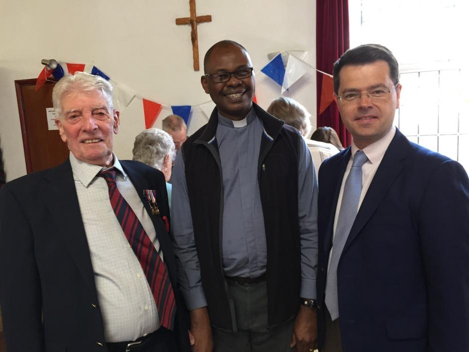 Liam Gray, Fr Christian and James Brokenshire MP